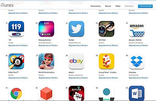 Scaricare app iphone
