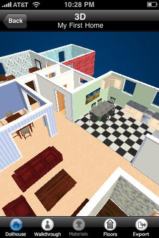 Home design 3d app per arredare casa apple app - Arredare casa in 3d ...